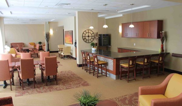 Lounge at City View Retirement